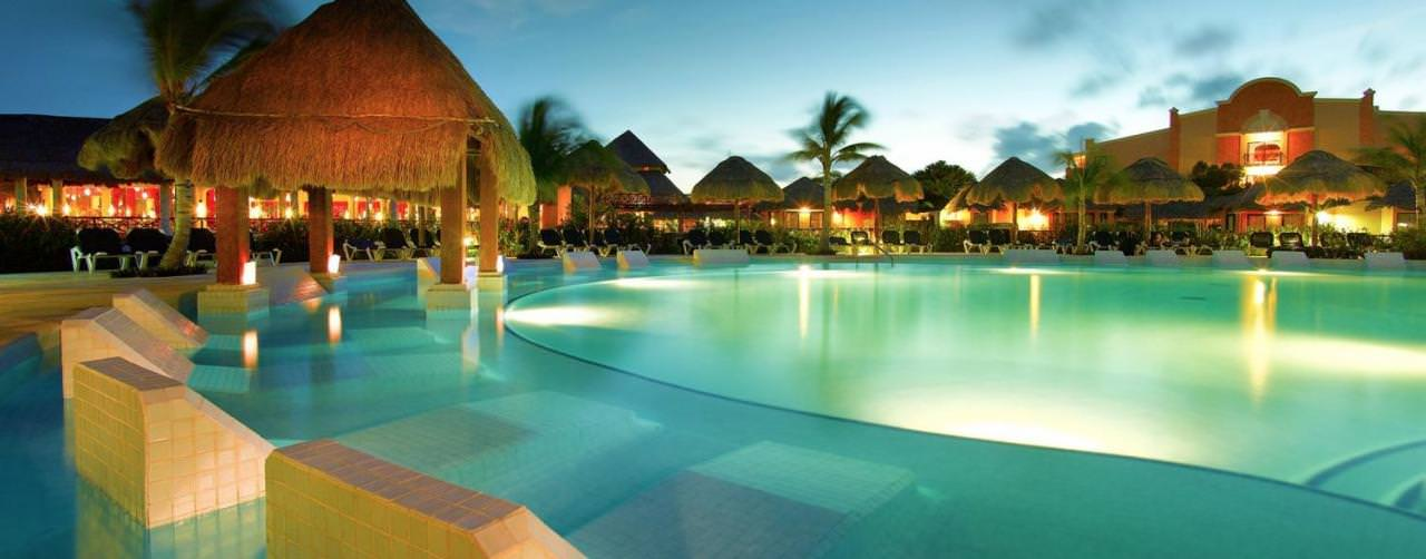 All Inclusive Resorts Palladium Resorts Pool Night