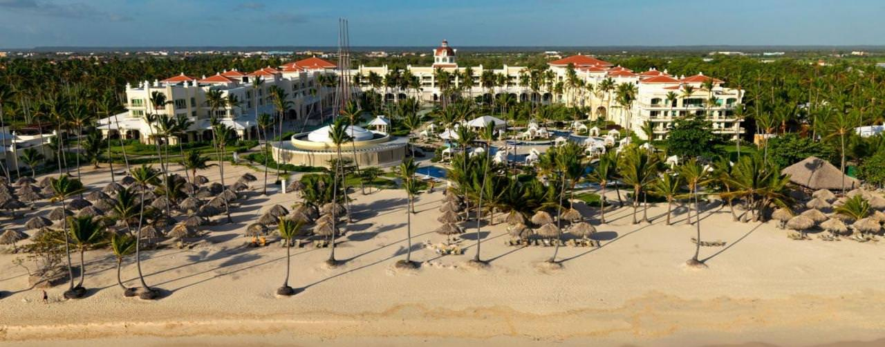 Beach Aerial Beach Resort View Iberostar Grand Hotel Bavaro Punta Cana Dominican Republic