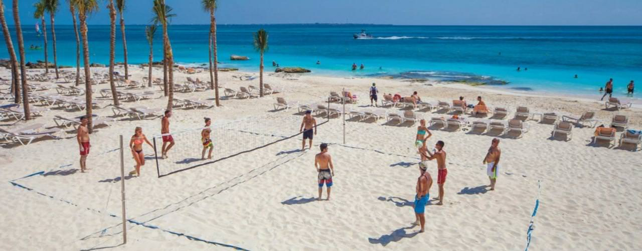 Cancun Mexico Riu Cancun Beach Activities Volley Ball
