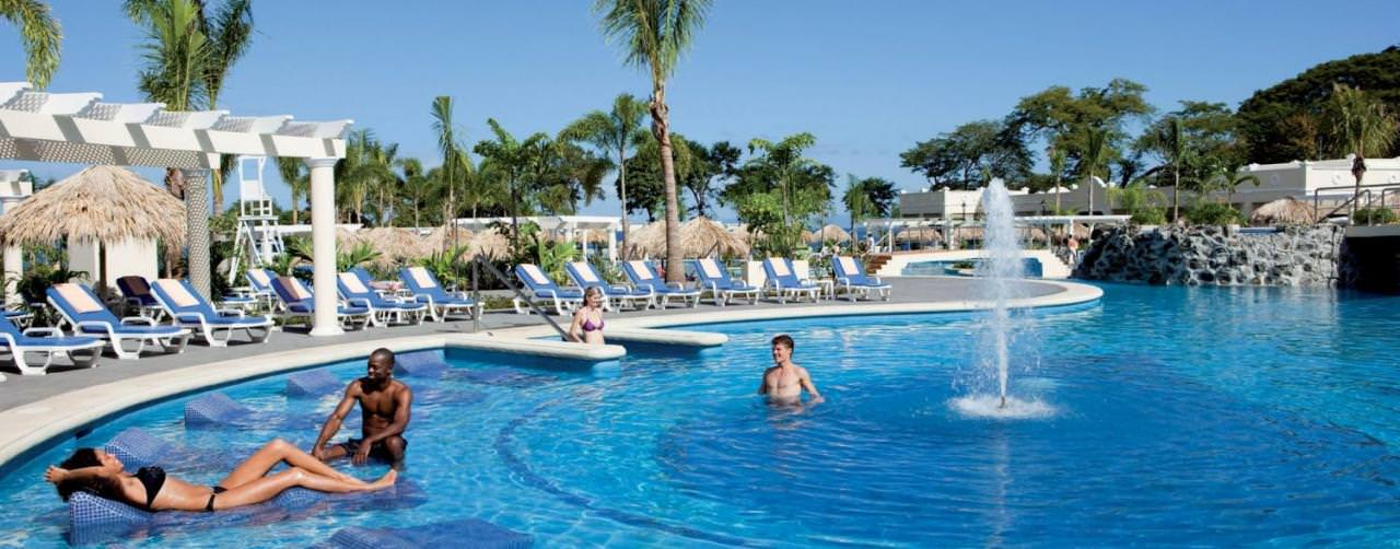 Costa Rica Pool Submerged Lounge Chairs Fountain Riu Guanacaste