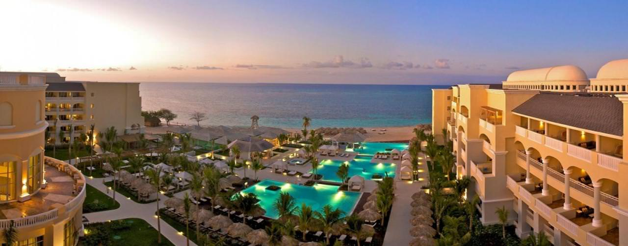 Iberostar Grand Hotel Rose Hall Montego Bay Jamaica Pool Aerial Sunset View