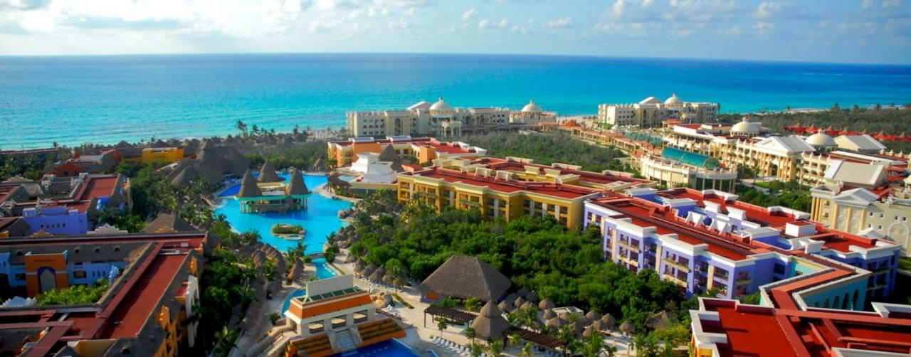 Iberostar Hotels Pool Aerial View Wave Pool Beach