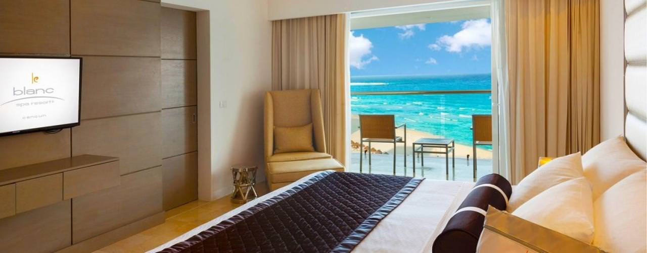 Le Blanc Spa Resort Cancun Mexico Room Presidential Suite Bed Room Balcony