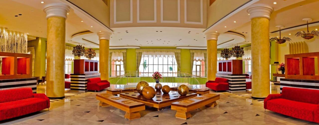 Montego Bay Jamaica Amenities Lobby Luxurious Iberostar Rose Hall Suites