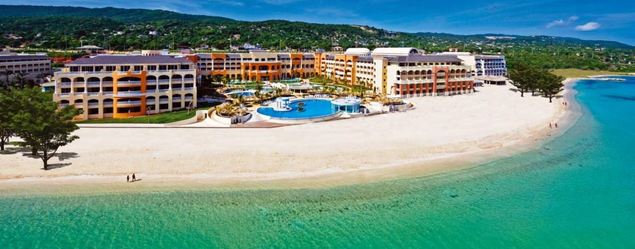 Montego Bay Jamaica Beach Aerial View From Sea Iberostar Rose Hall Suites