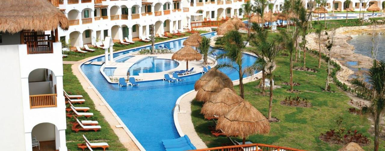 Pool Aerial Resort View Swim Up Rooms Valentin Imperial Maya Riviera Maya Mexico