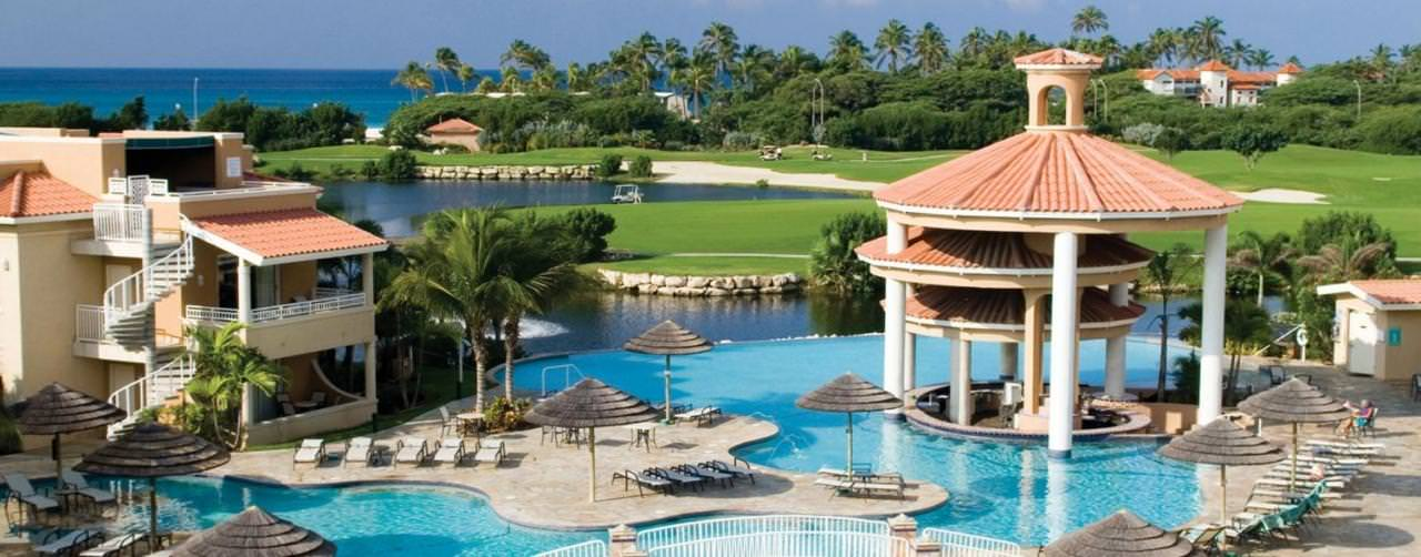 Pool Divi Villas Bridge Swim Up Bar Golf Course Divi Aruba All Inclusive Aruba Caribbean