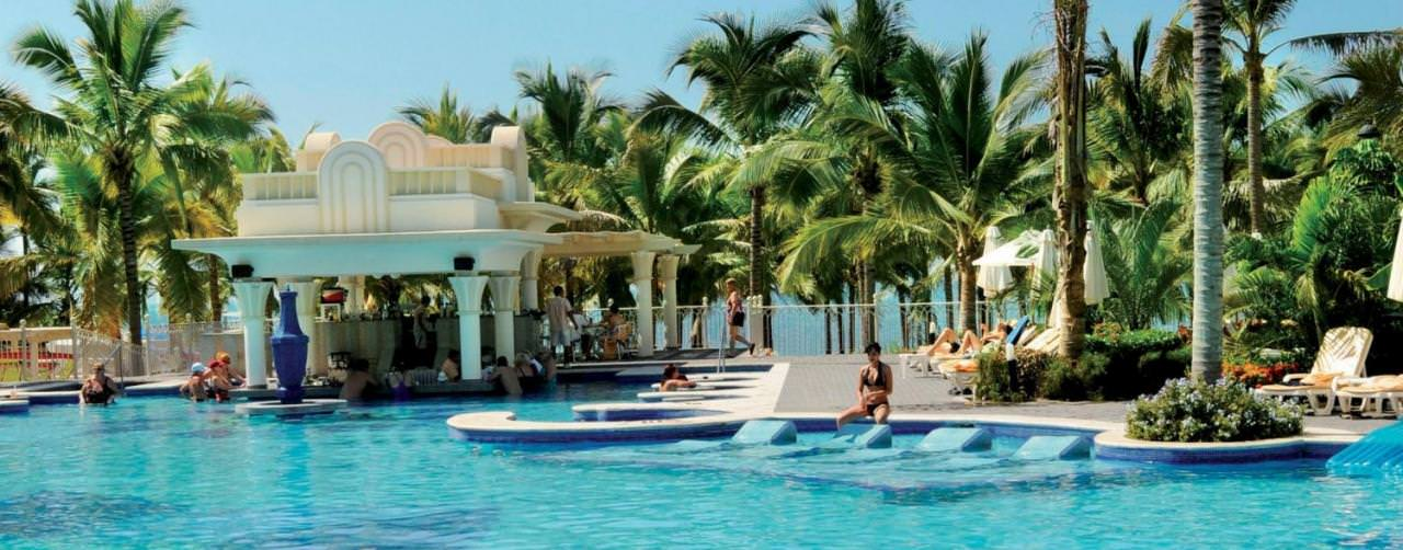 Pool Submerged Lounge Chairs Pool Bar Riu Vallarta Hotel Riviera Nayarit Puerto Vallarta