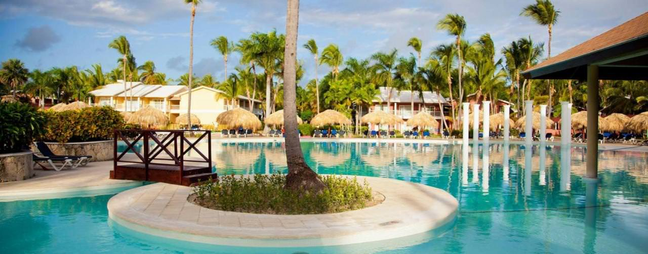 Punta Cana Dominican Republic Grand Palladium Bavaro Resort Spa Pool Samana View