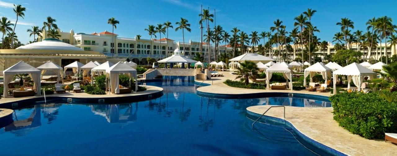 Punta Cana Dominican Republic Pool Winding Bali Beds Iberostar Grand Hotel Bavaro
