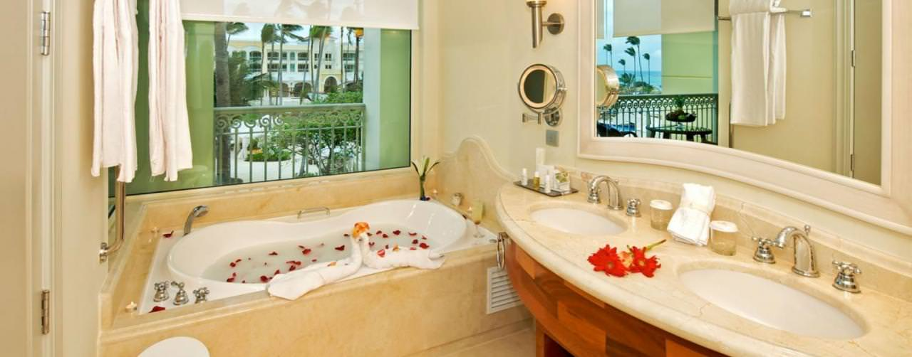 Punta Cana Dominican Republic Room Bathroom Jacuzzi Double Sinks Iberostar Grand Hotel Bavaro