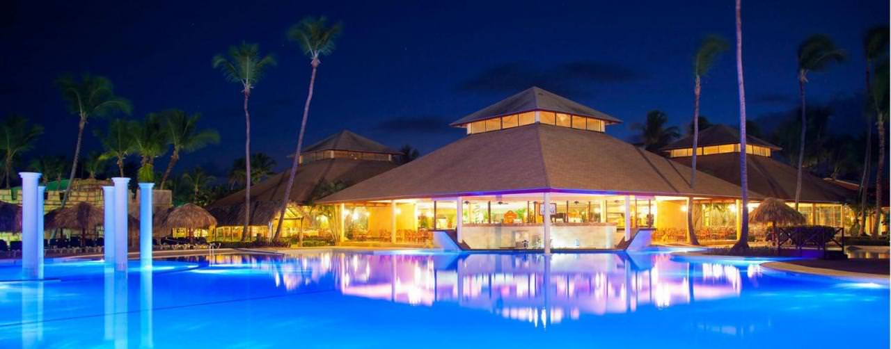 Punta Cana Dominican Republic Royal Suites Turquesa By Palladium Pool Night View