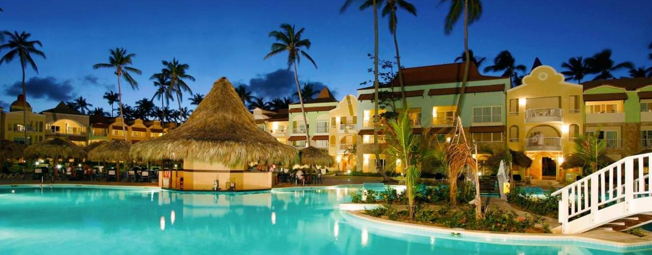 Punta Cana Dominican Republic Royal Suites Turquesa By Palladium Pool View At Night Palms