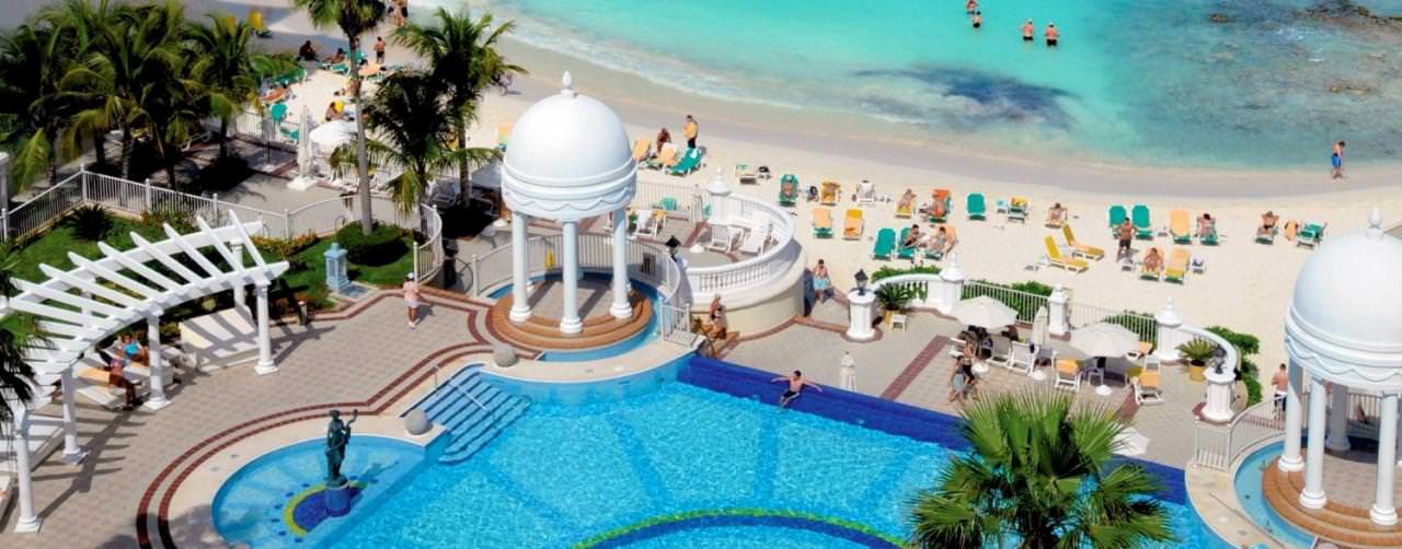 Riu Palace Las Americas Cancun Mexico Pool Aerial View From Balcny