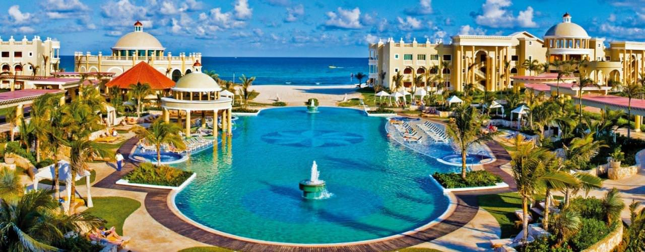 Riviera Maya Mexico Iberostar Grand Hotel Paraiso Pool Aerial Salt Water View