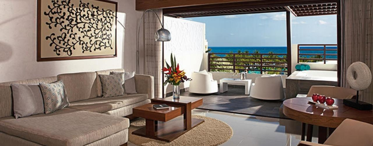 Riviera Maya Mexico Secrets Silversands Riviera Cancun Sesrc_rooftop_suite_living_terrace_1a
