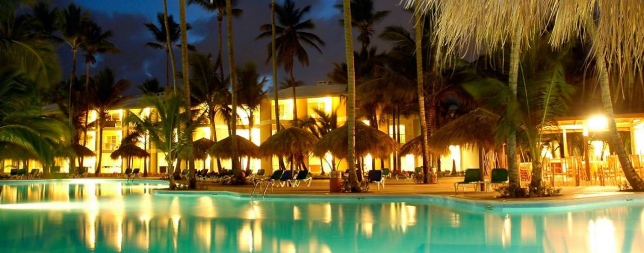 Royal Suites Turquesa By Palladium Punta Cana Dominican Republic Pool Resort View At Night