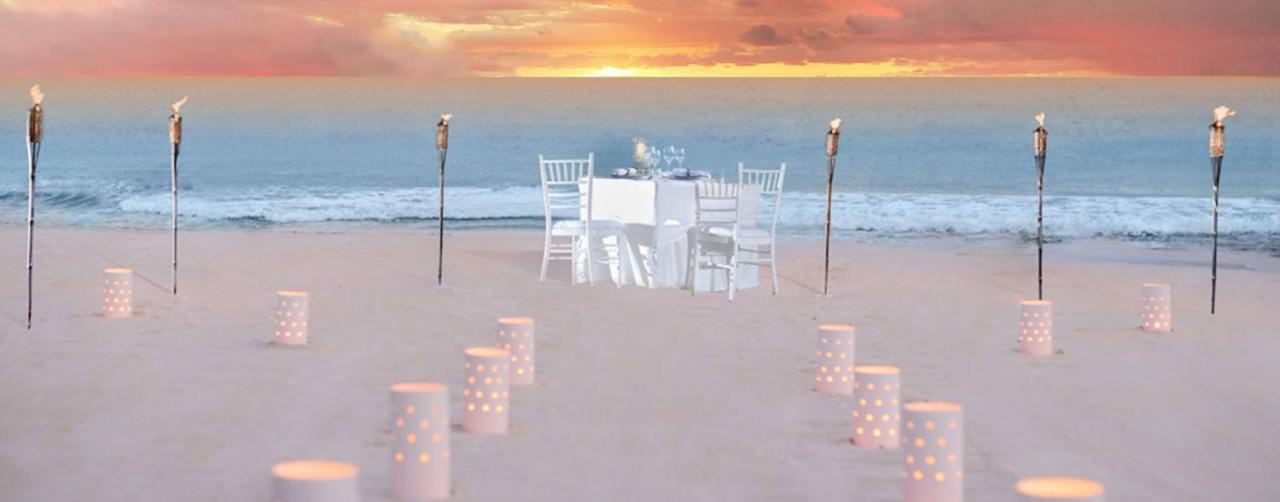 Valentin Imperial Maya Riviera Maya Mexico Wedding Beach Dinner For Two