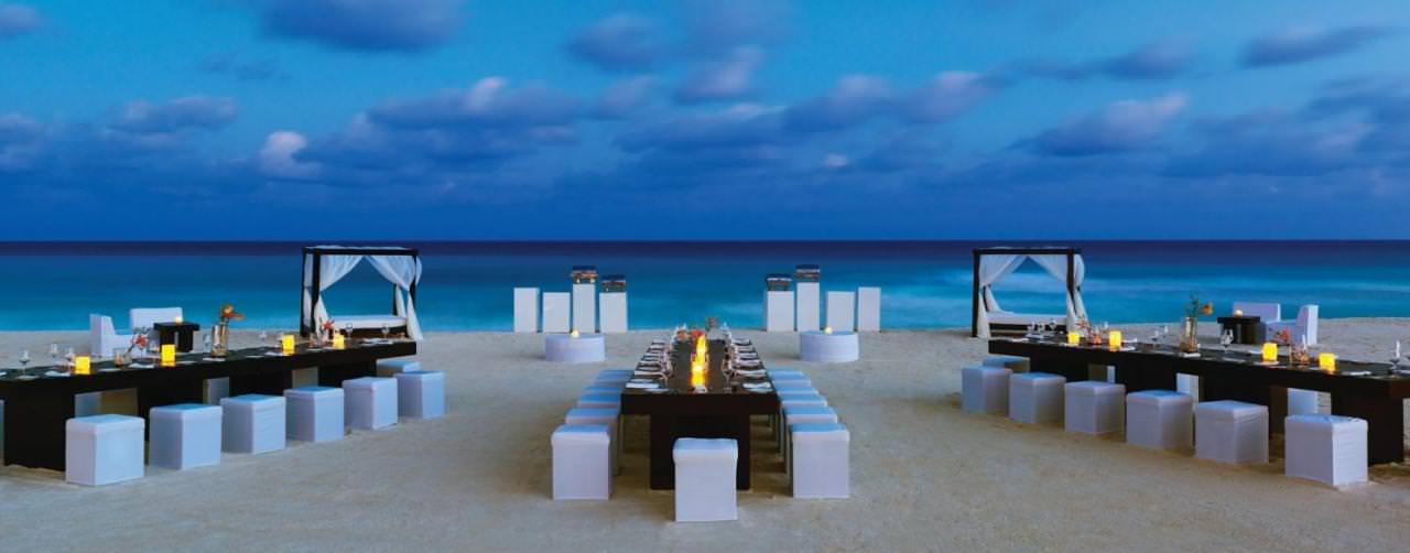 Wedding On Beach Set Up Le Blanc Spa Resort Cancun Mexico