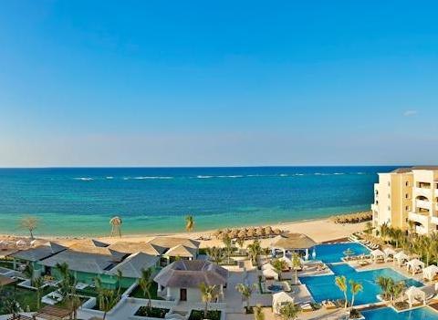 Aerial View Of Iberostar Grand Hotel Rose Hall Beach
