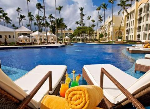 Iberostar Grand Hotel Bavaro Pool With Lounge Chairs