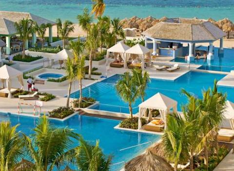 Iberostar Grand Hotel Rose Hall Aerial Pool View