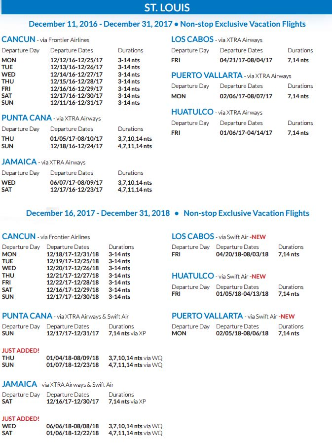 Go Dream Vacations Non Stop Flights Apple Vacations