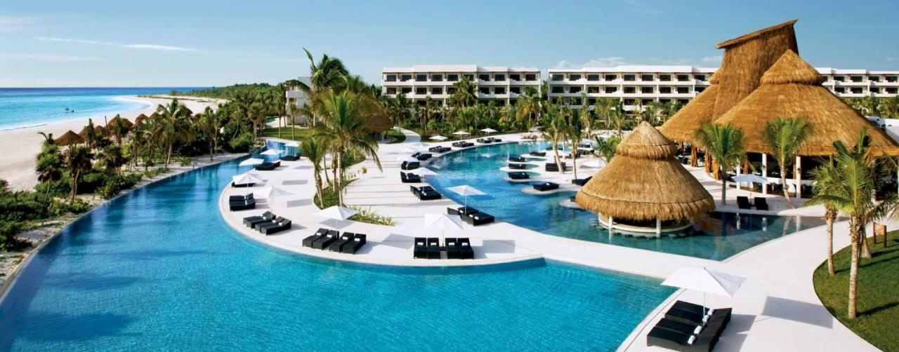All Inclusive Resorts Secrets Resorts And Spas Pool Aerial