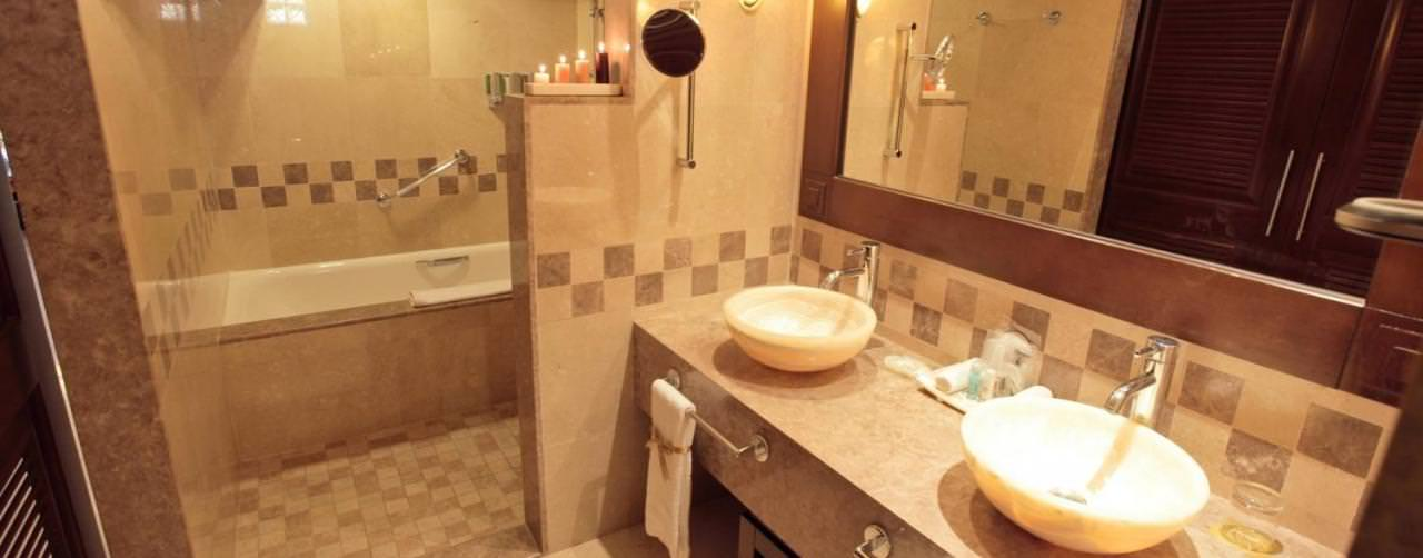Barcelo Maya Palace Deluxe Riviera Maya Mexico Room Bathroom Marble