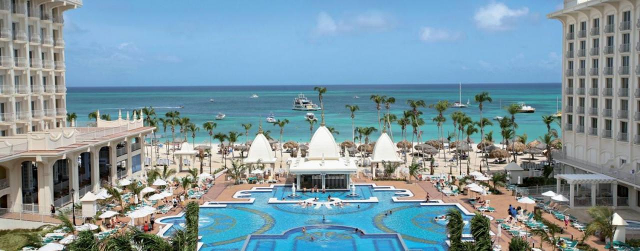 Beach View From Resort Riu Palace Aruba Aruba Caribbean