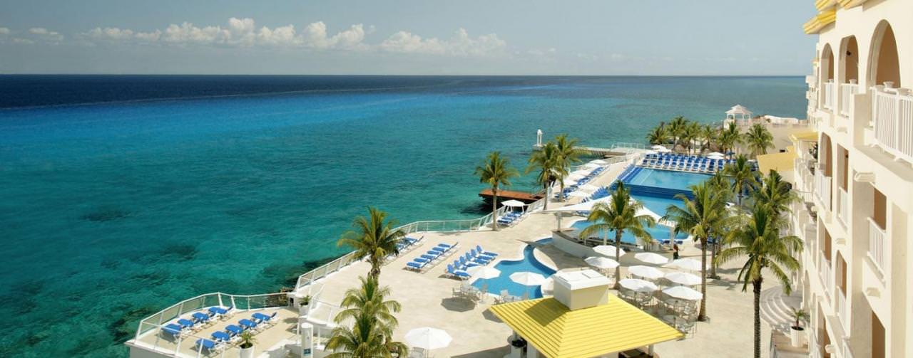 Cozumel Palace Cozumel Mexico Beach Aerial View From Balcony