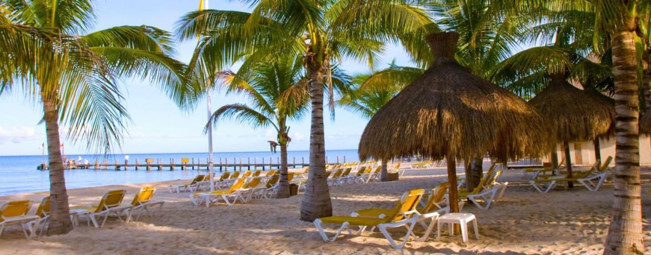 Iberostar Cozumel Cozumel Mexico Beach Palm Trees Palapas