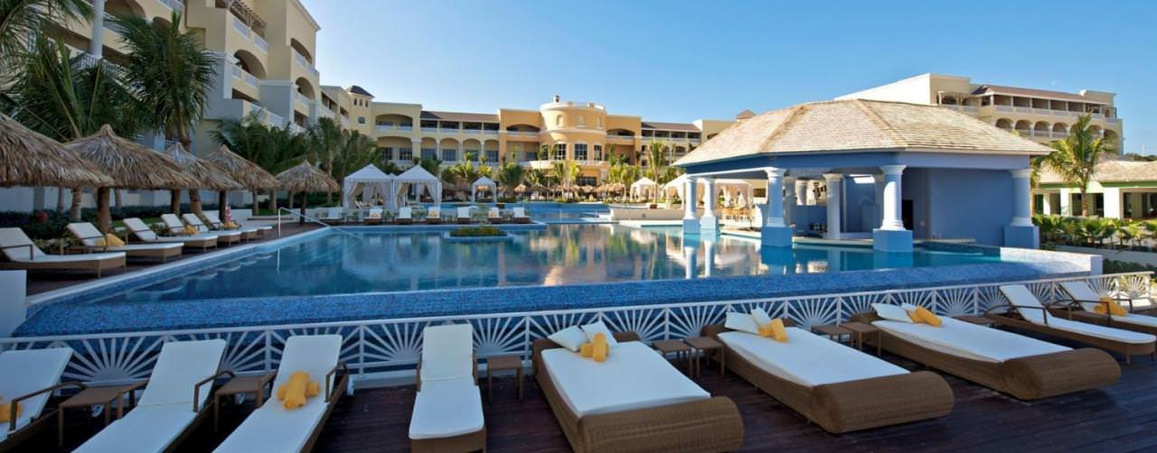 Iberostar Grand Hotel Rose Hall Montego Bay Jamaica Pool View From Beach Chairs Bar