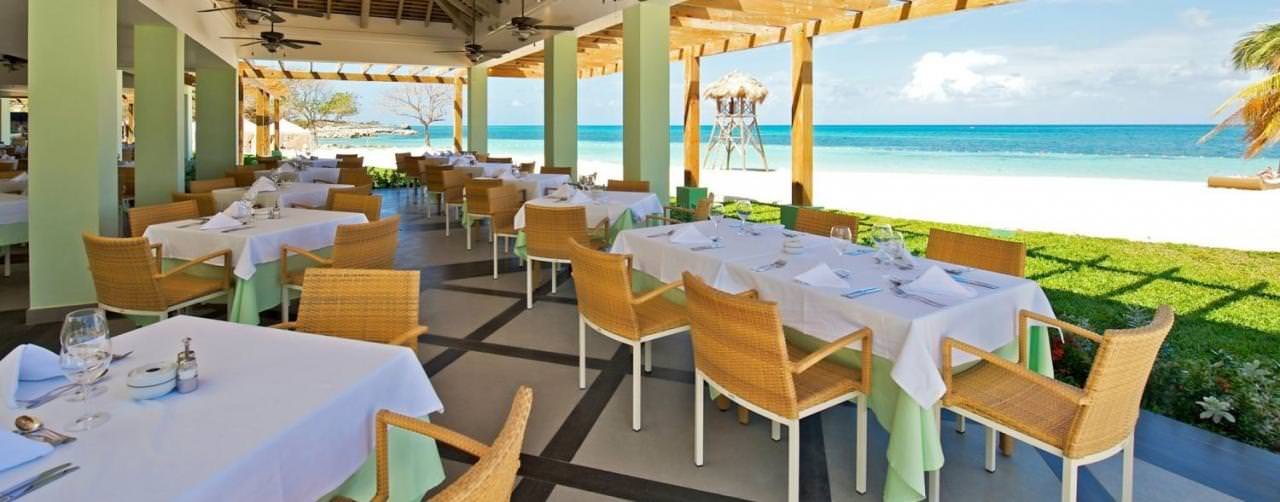 Montego Bay Jamaica Iberostar Grand Hotel Rose Hall Restaurant Buffet Sea Side Dinning