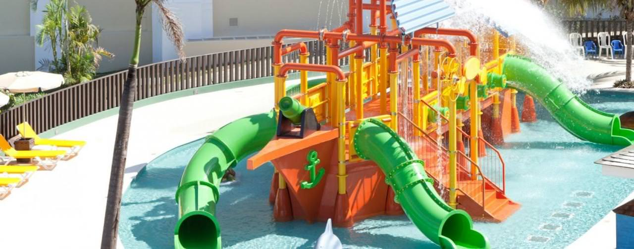 Montego Bay Jamaica Kids Water Park Slides Pool Iberostar Rose Hall Suites