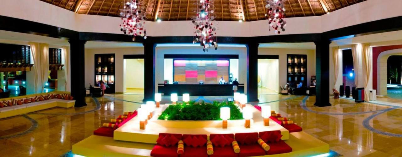 Ocean Coral Turquesa By H10 Riviera Maya Mexico Amenities Lobby Vaulted Ceiling Reception
