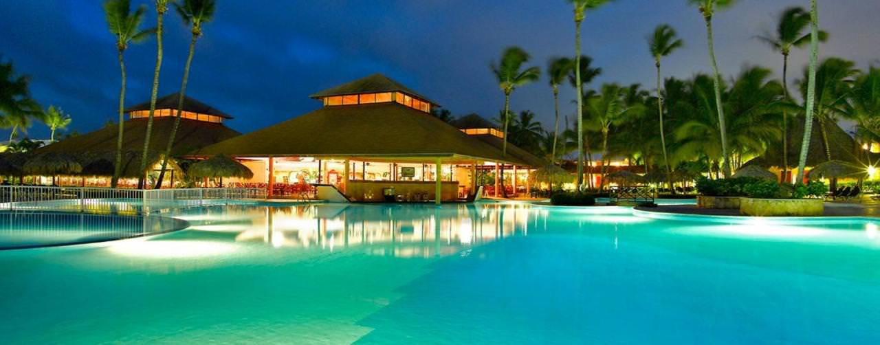 Pool Night Grand Palladium Punta Cana Resort Spa Punta Cana Dominican Republic