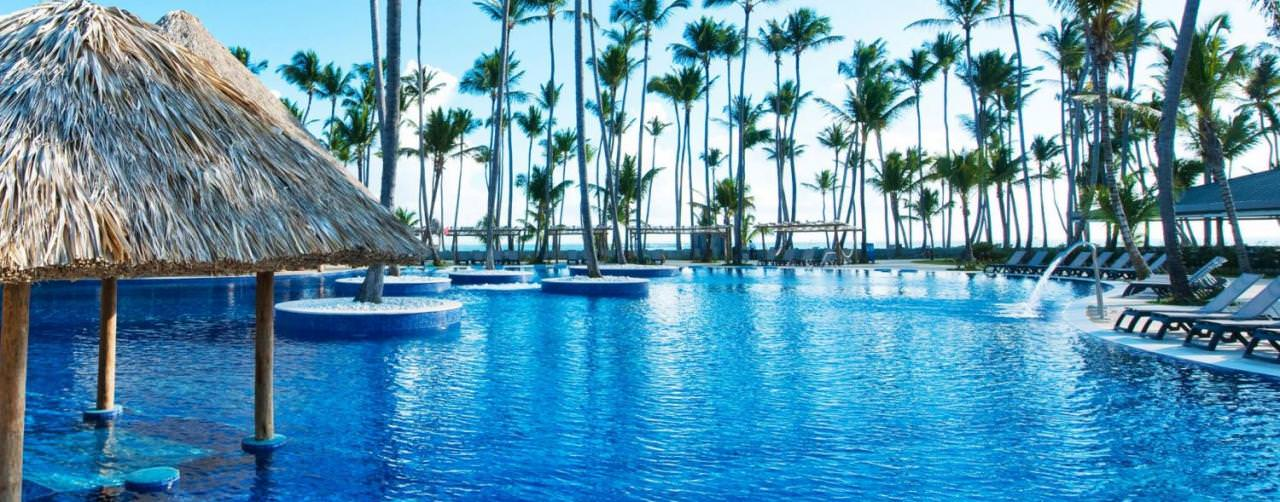 Punta Cana Dominican Republic Barcelo Bavaro Beach Pool Submerged Lounge