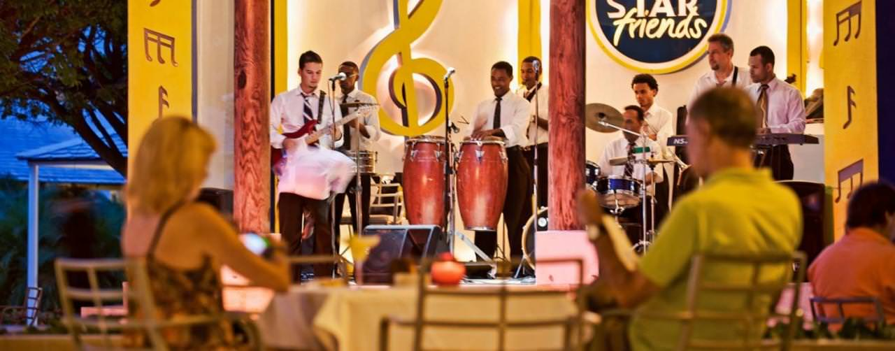 Punta Cana Dominican Republic Entertainment Star Friends At Night Iberostar Punta Cana