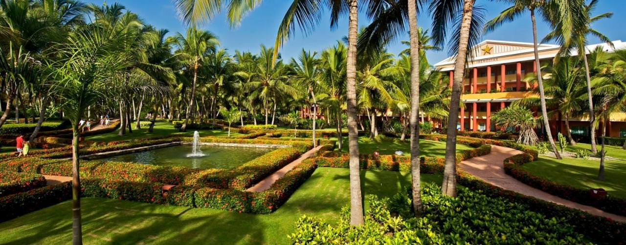 Punta Cana Dominican Republic Iberostar Punta Cana Amenities Palm Tree Garden Fountain