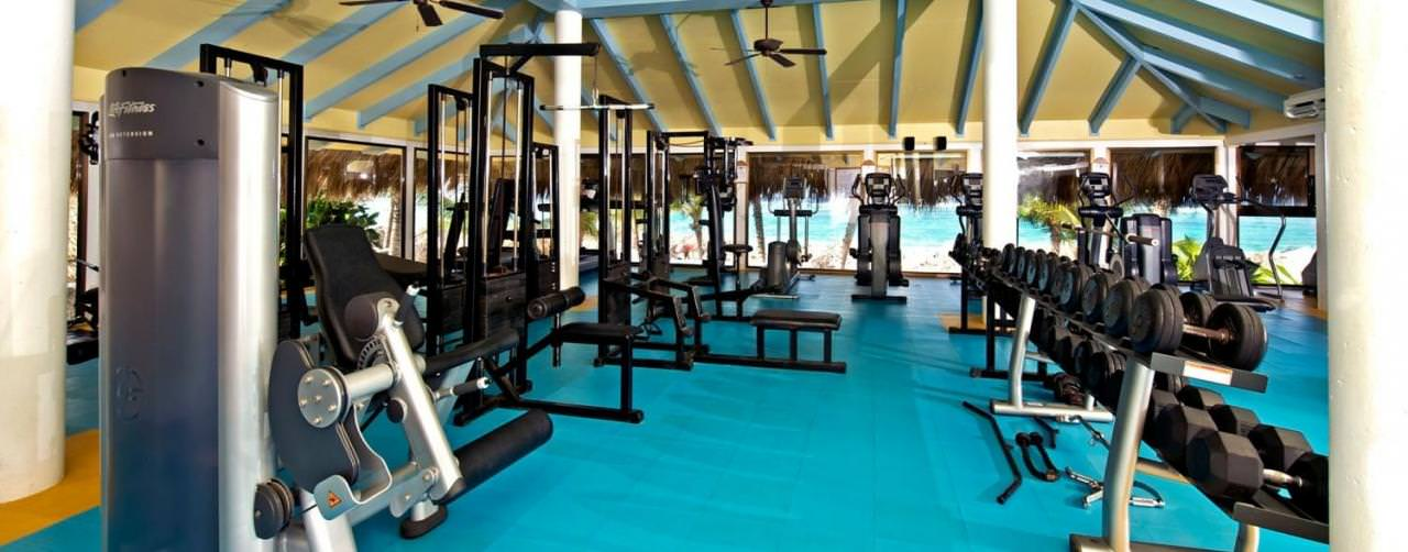 Punta Cana Dominican Republic Iberostar Punta Cana Health Club Gym Equipment Fitness