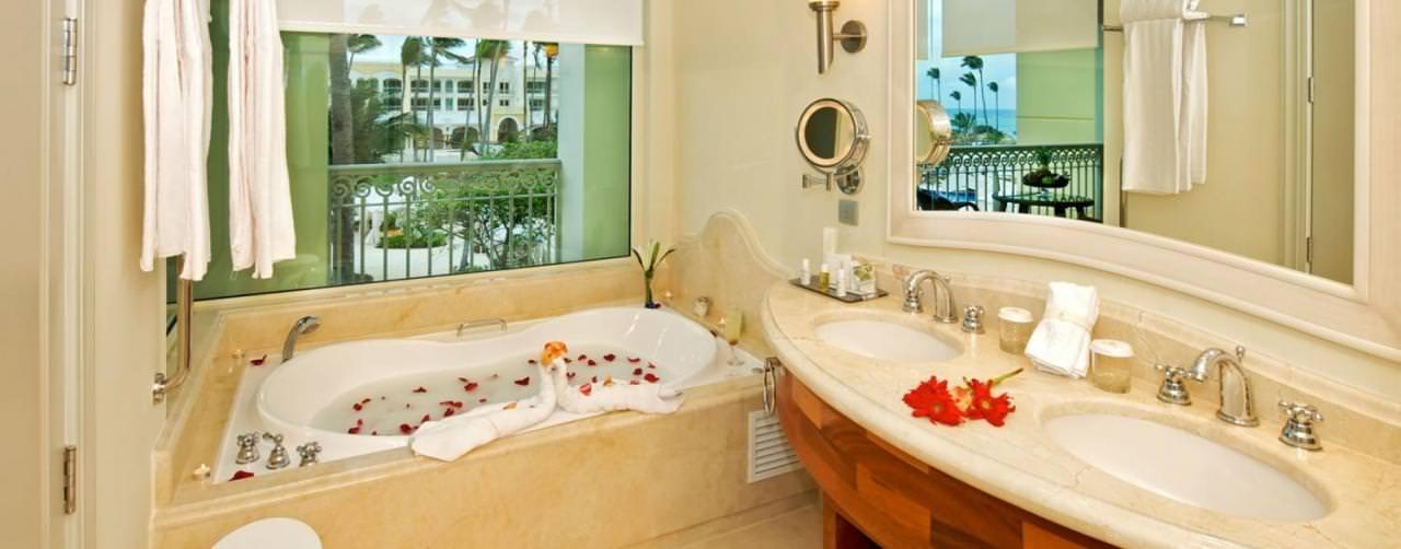 Punta Cana Dominican Republic Room Bathroom Jacuzzi Double Sinks Iberostar Grand Hotel Bavaro