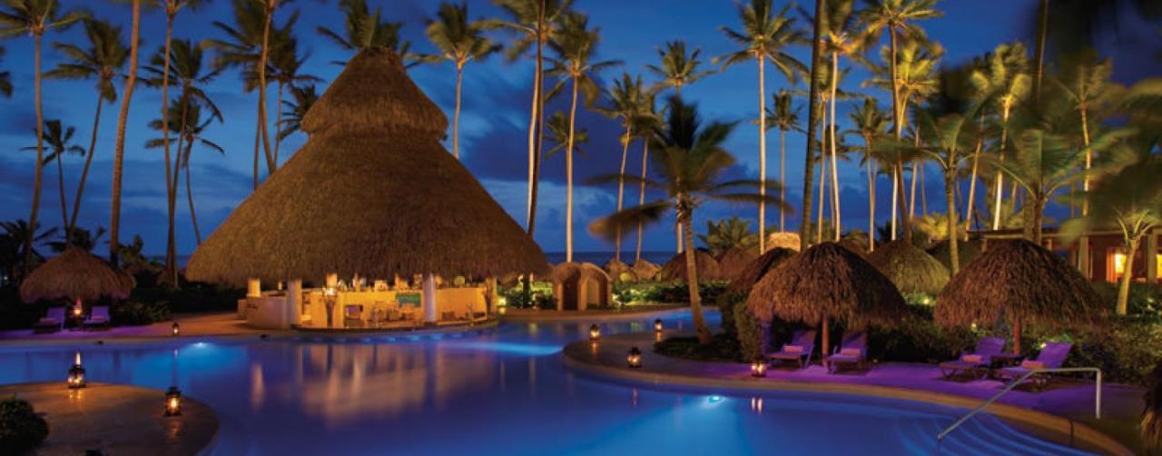Punta Cana Dominican Republic Secrets Royal Beach Secrb Poolbar Night 1a