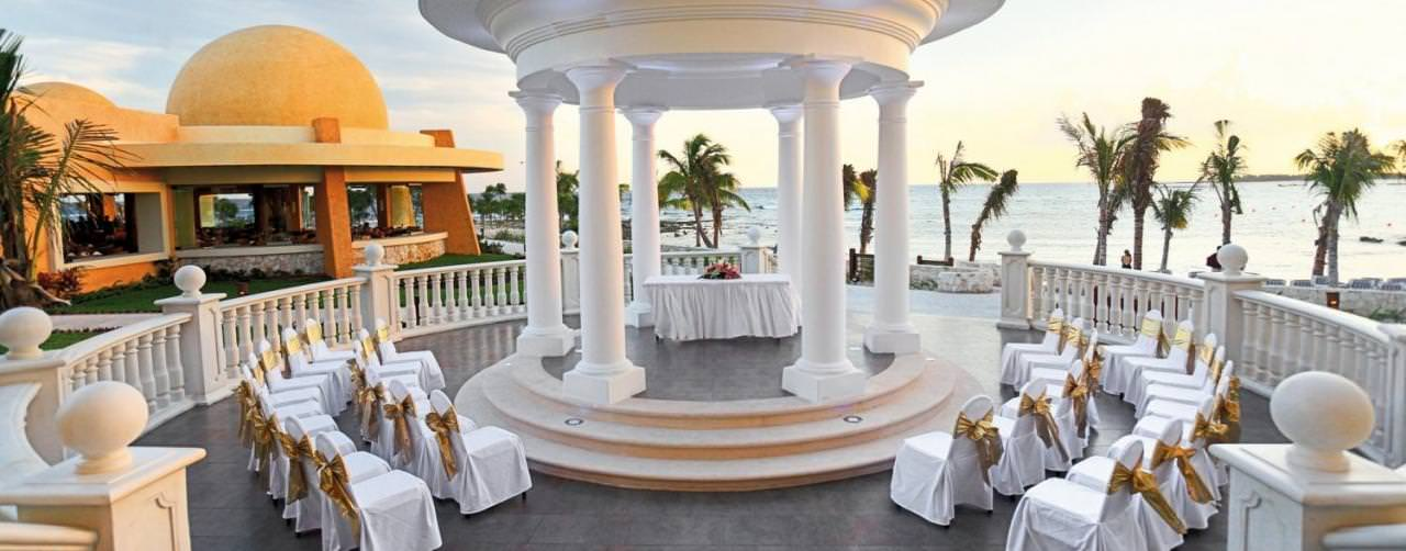 Riviera Maya Mexico Barcelo Maya Palace Deluxe Wedding Gazebo