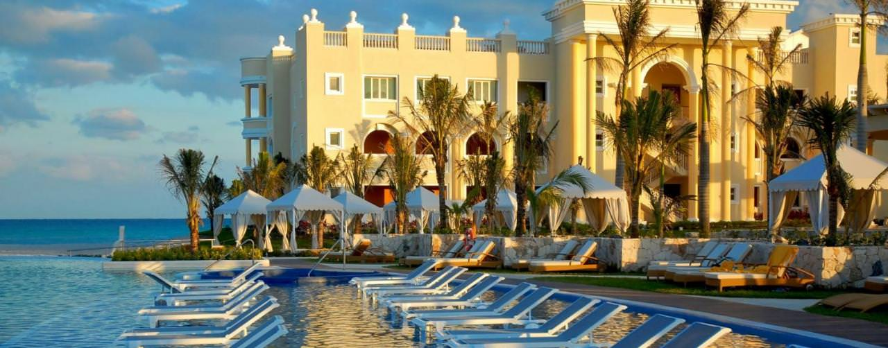 Riviera Maya Mexico Iberostar Grand Hotel Paraiso Pool Main Pool Submerged Lounge Chairs