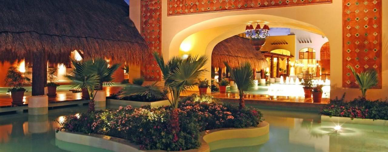 Riviera Maya Mexico Iberostar Paraiso Lindo Pool  Night View