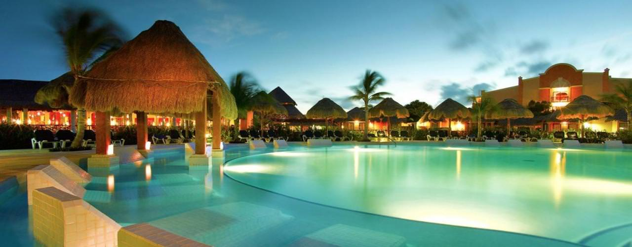 Riviera Maya Mexico Pool Night Grand Palladium Colonial Kantenah