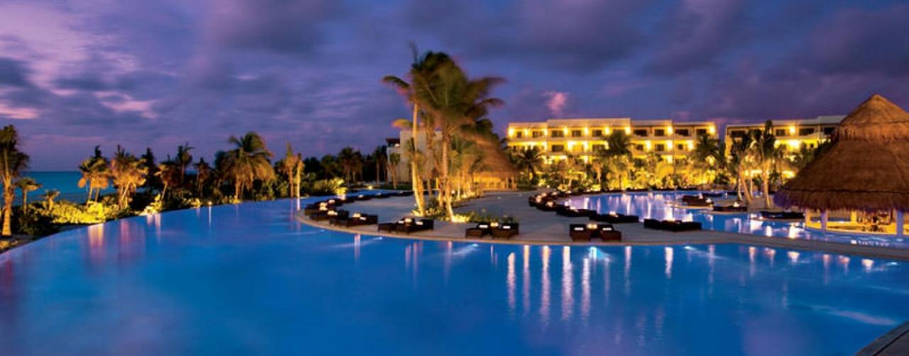 Riviera Maya Mexico Pool Night Secrets Maroma Beach Cancun