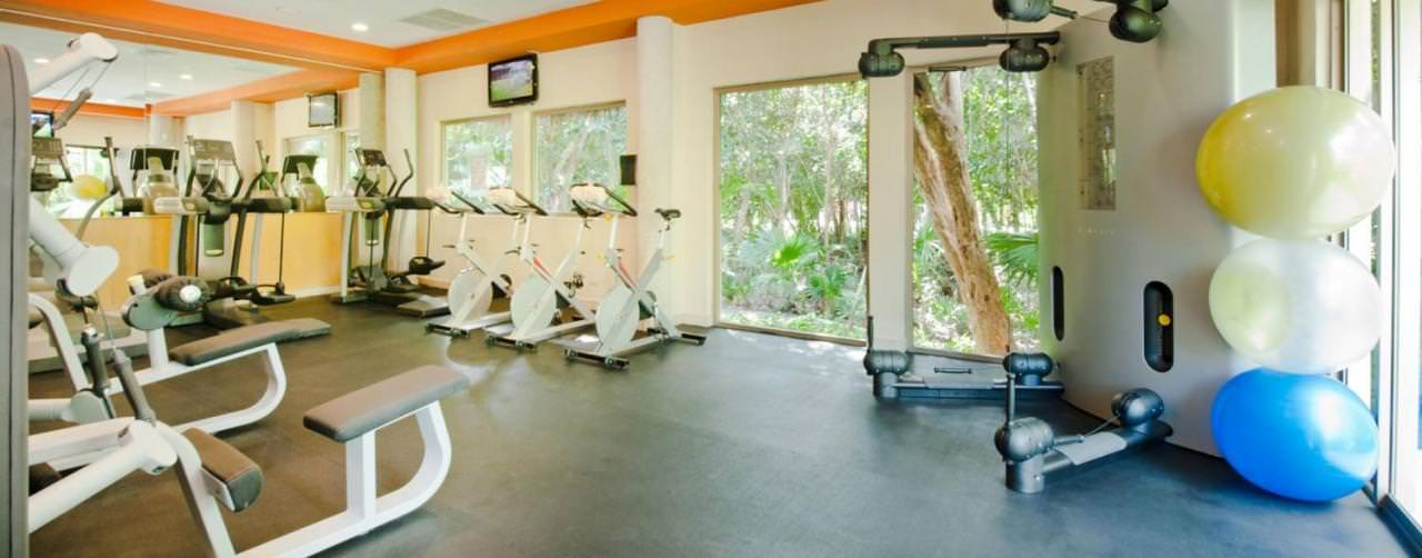 Riviera Maya Mexico Valentin Imperial Maya Health Club Fitness Center Equipment