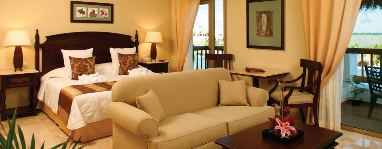 Valentin Imperial Maya Riviera Maya Mexico Room Suite Sofa  King Bed Double Balcony